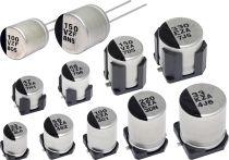 一张照片:导电性聚合物混合铝电解电容器