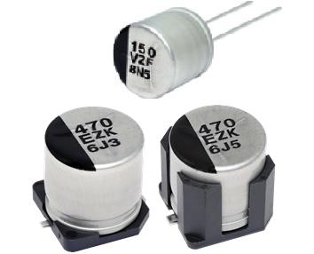 导电性聚合物混合铝电解电容器